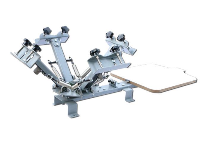 MK-T411A 4 Color 1 Station Desktop Screen Printing Machine | Screen Printing Machine Manufacturer