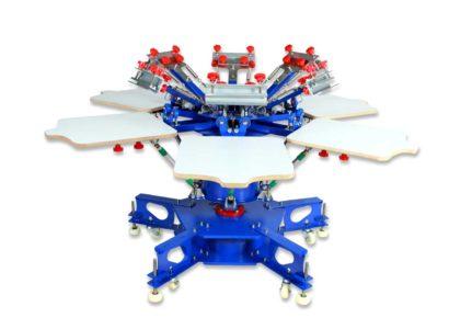 MK-F662E floor type 6 color 6 station double wheel screen printing machine