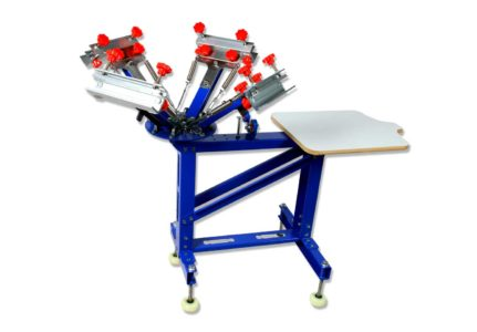 4 Color Manual Screen Printing Press, Silk Screening Pressing DIY with 1 Station