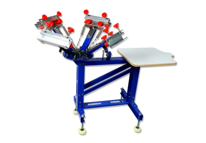 MK-F411C Floor Type Micro-adjust 4 Color 1 Station Single Wheel Overprinting Screen Printing Machine | Screen Printing Machine Manufacturer