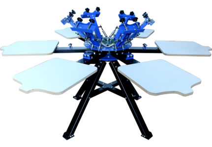 MK-F662A floor type six color six station double wheel screen printing machine