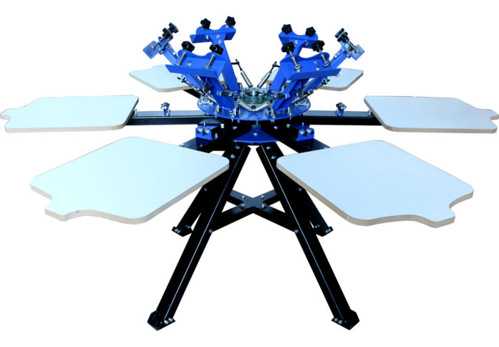 MK-F662A floor type six color six station double wheel screen printing machine | Screen Printing Machine Manufacturer