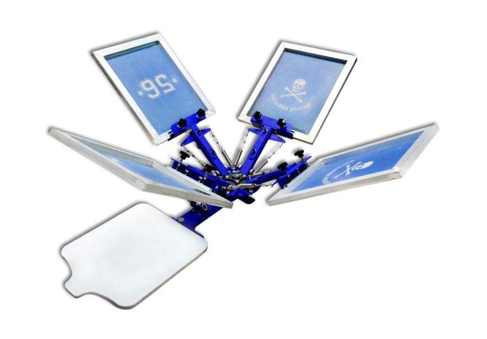 MK-T411B 4 color 1 station desktop screen printing machine | Screen Printing Machine Manufacturer