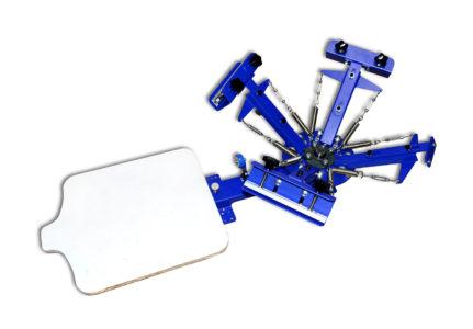 Screen Printing Machine Silk Screen Printing Machine Screen Printing Press 4 Color 1 Station Double Spring T-Shirt Press DIY