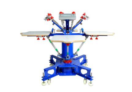 MK-F442E floor type 4 color 4 station double wheel screen printing machine