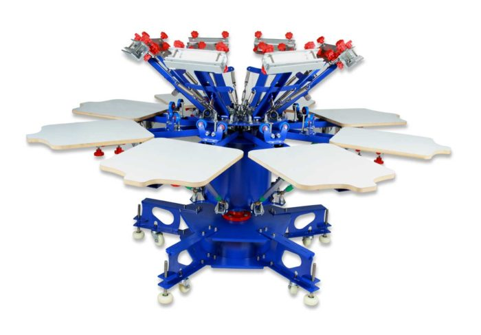 8 Color Screen Printing Machine