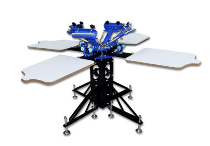 MK-F442B floor type four color four station double wheel screen printing machine