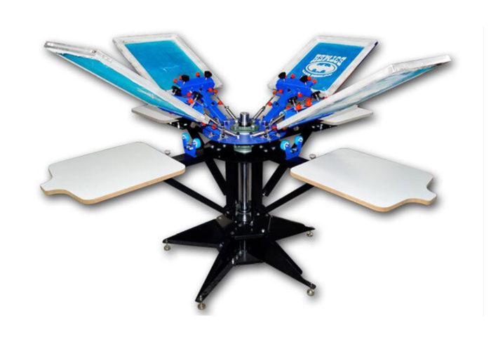 MK-F662C Floor type micro-adjust six color six station double wheel overprinting screen printing machine | Screen Printing Machine Manufacturer