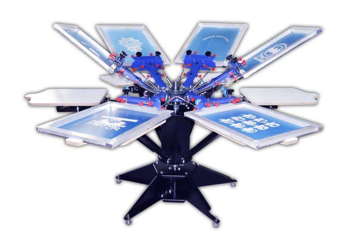 MK-F662D enhanced precise micro adjust six color six station double wheel overprinting screen printing machine | Screen Printing Machine Manufacturer