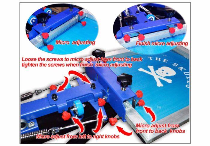 MK-F882D enhanced precise micro adjust 8 color 8 station double wheel overprinting screen printing machine   Screen Printing Machine Manufacturer