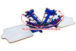 MK-T421C desktop micro-adjust 4 color 2 station overprinting screen printing machine | Screen Printing Machine Manufacturer
