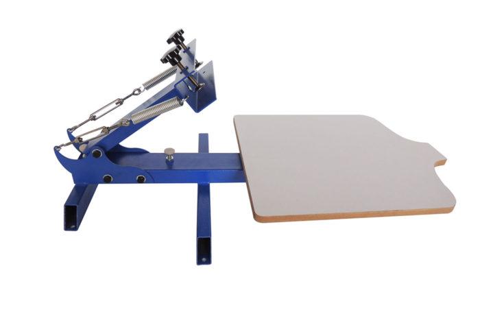 MK101-S Simple 1 color 1 station screen printer | Screen Printing Machine Manufacturer