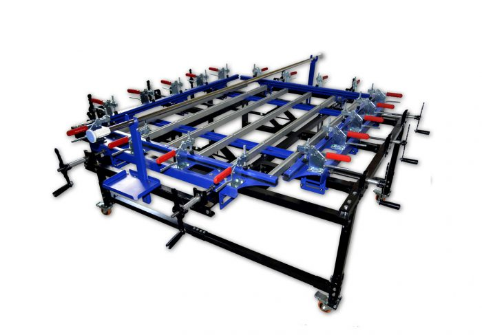 MK-0912-24N Clamp Type Manual Screen Stretcher | Screen Printing Machine Manufacturer