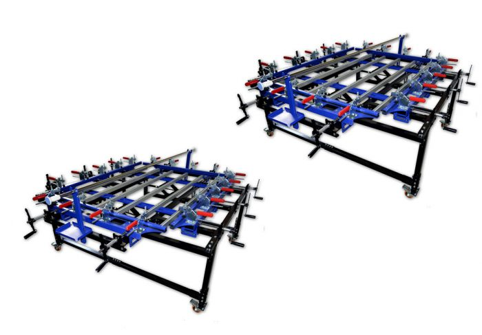 MK-1215-24N Clamp Type Manual Screen Stretcher | Screen Printing Machine Manufacturer