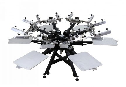 Screen Printing Machines with Micro Registation 8 Color 8 Station Manual Screen Printing Machinery