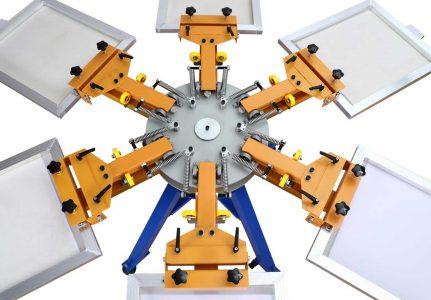 6 Clor 6 Station Screen Printing Machine