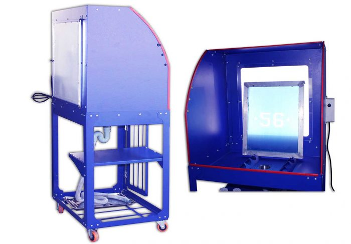 MK-FWT Stand Type Washout Tank with LED light   Screen Printing Machine Manufacturer