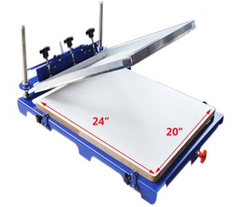 1 Color 1 Station Screen Printing Press with 20″x 24″ Pallet