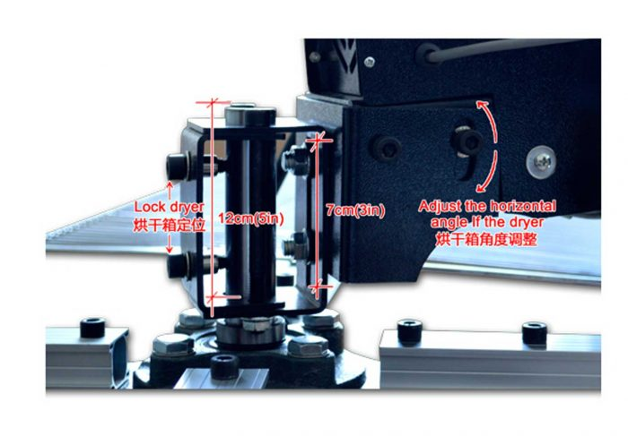MK-FUCF40404-1600W Photoeletric control rotary four platform carbon fiber dryer   Screen Printing Machine Manufacturer